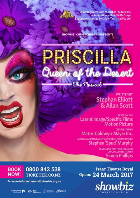 Priscilla, Queen of the Desert - opens 24 March 2017