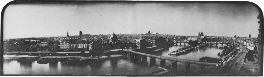 Daguerreotype panorama of Paris, circa 1846