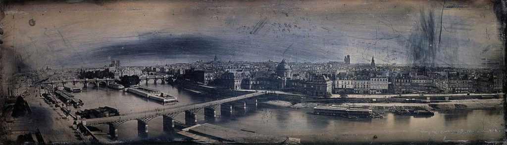 Panoramic view of Paris, France, c. 1846. By Friedrich von Martens.
