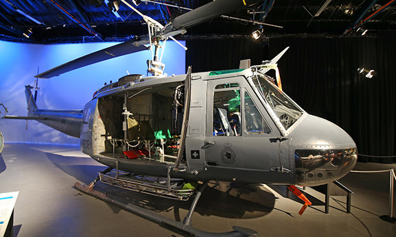 The Iroquois is one of the world's most iconic helicopters, famous for its extensive role in the Vietnam War and distinctive 'whock-whock' sound. Source: Air Force Museum of New Zealand.